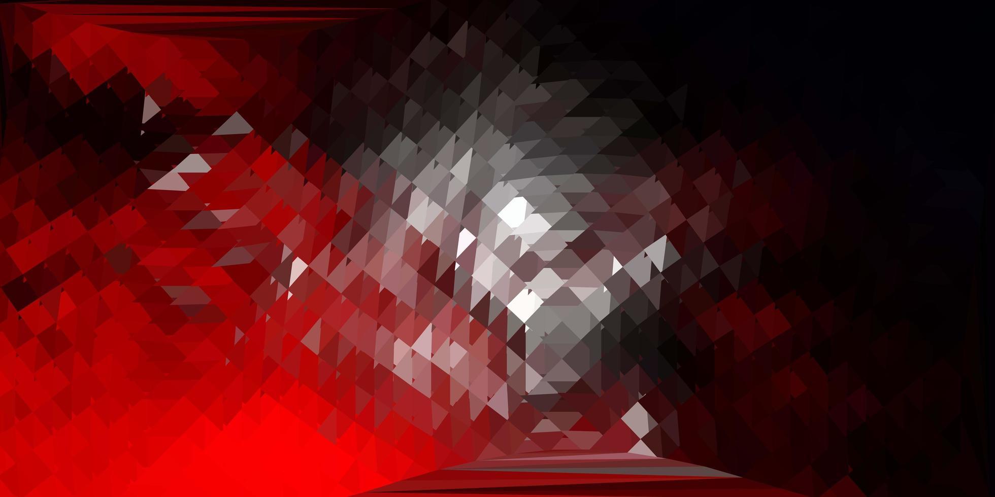 mörk röd vektor triangel mosaik mönster.
