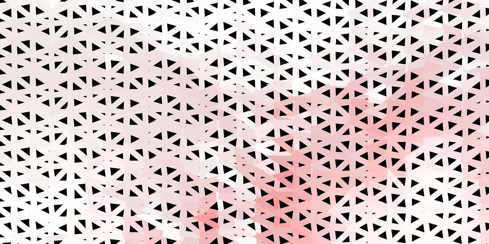 ljusrött mosaikmönster med triangelvektorer. vektor