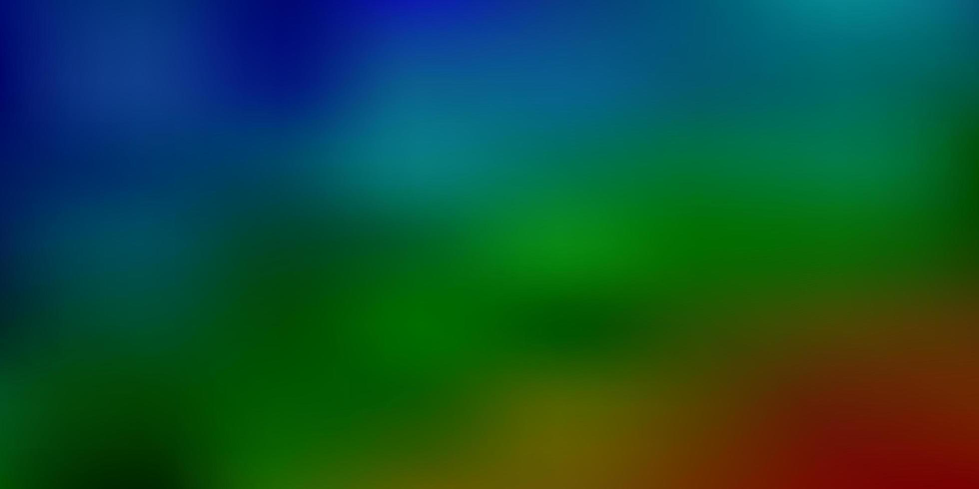 dunkle mehrfarbige Vektorunschärfe-Schablone. vektor