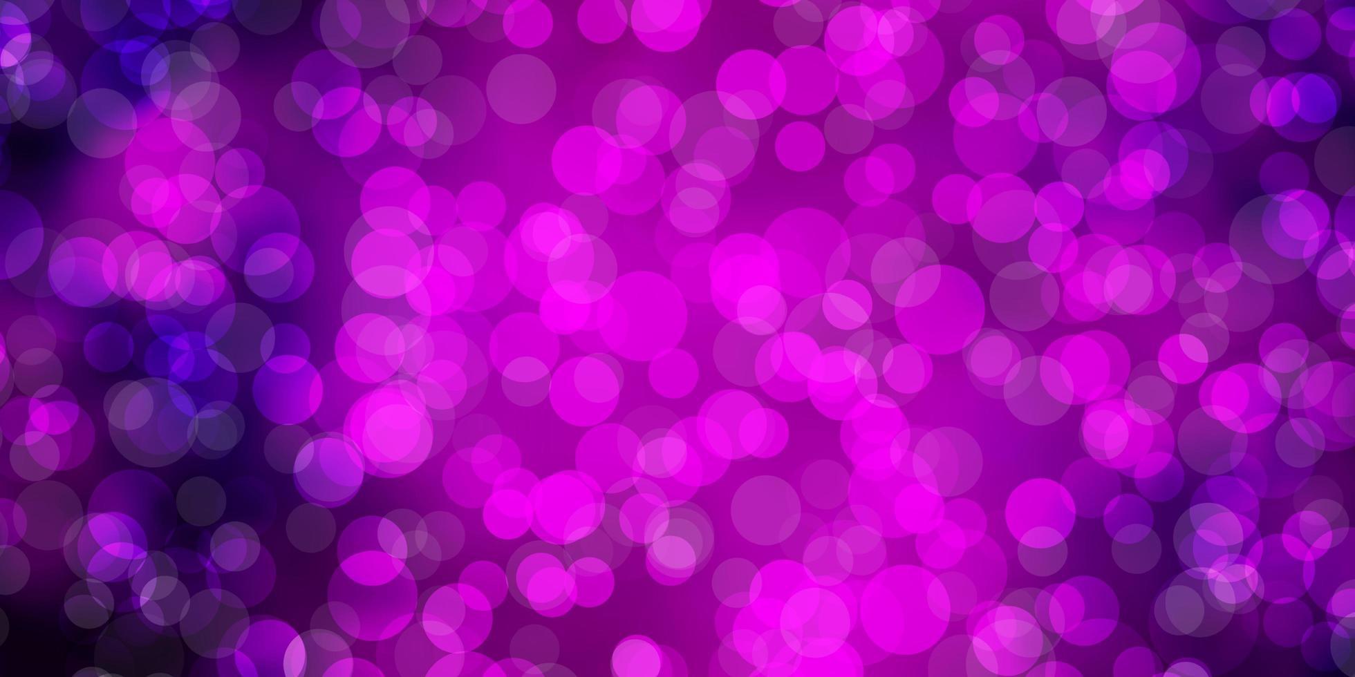 mörk lila vektor bakgrund med fläckar.