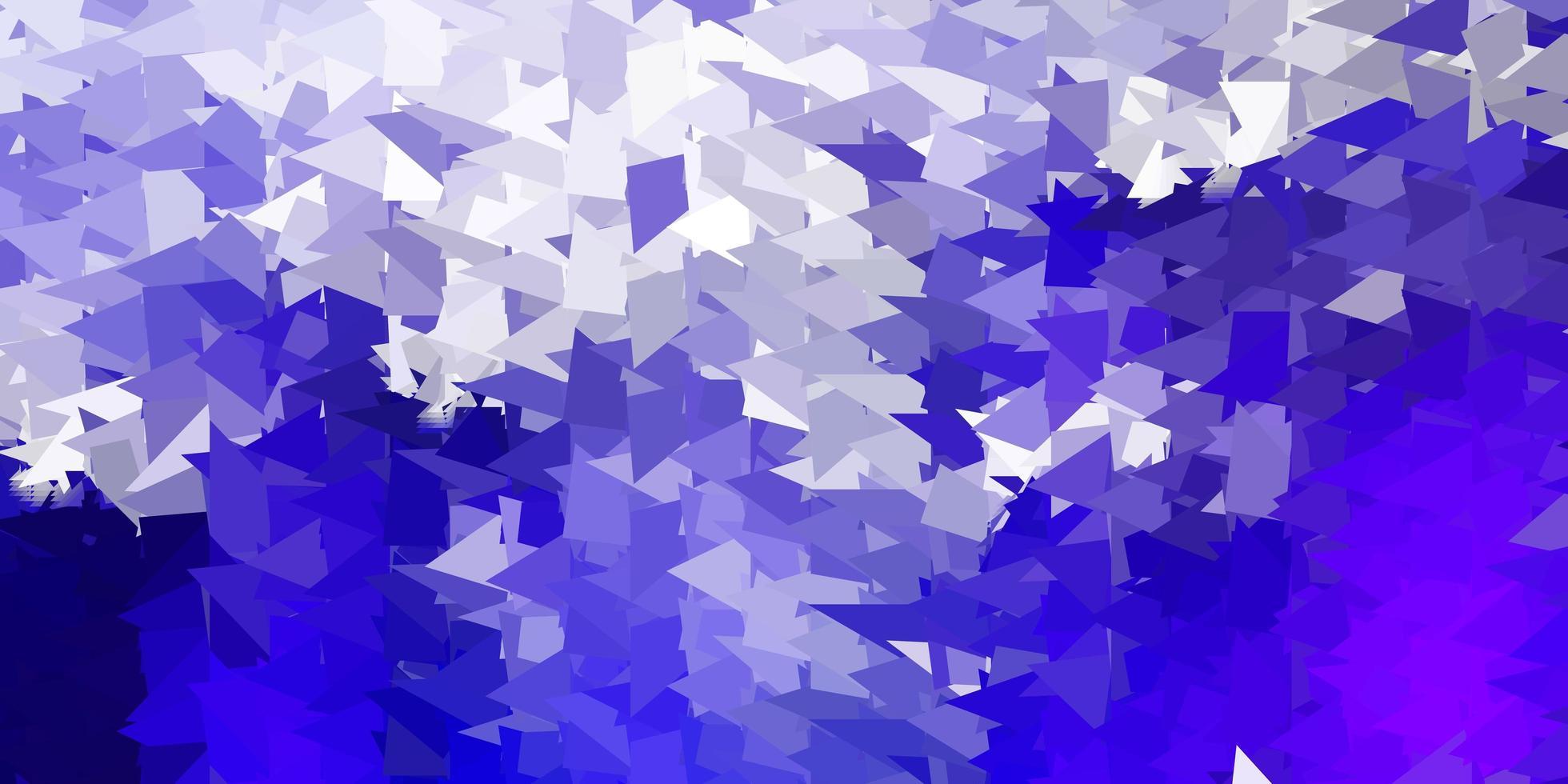 dunkelvioletter Vektor-Dreieck-Mosaik-Hintergrund. vektor
