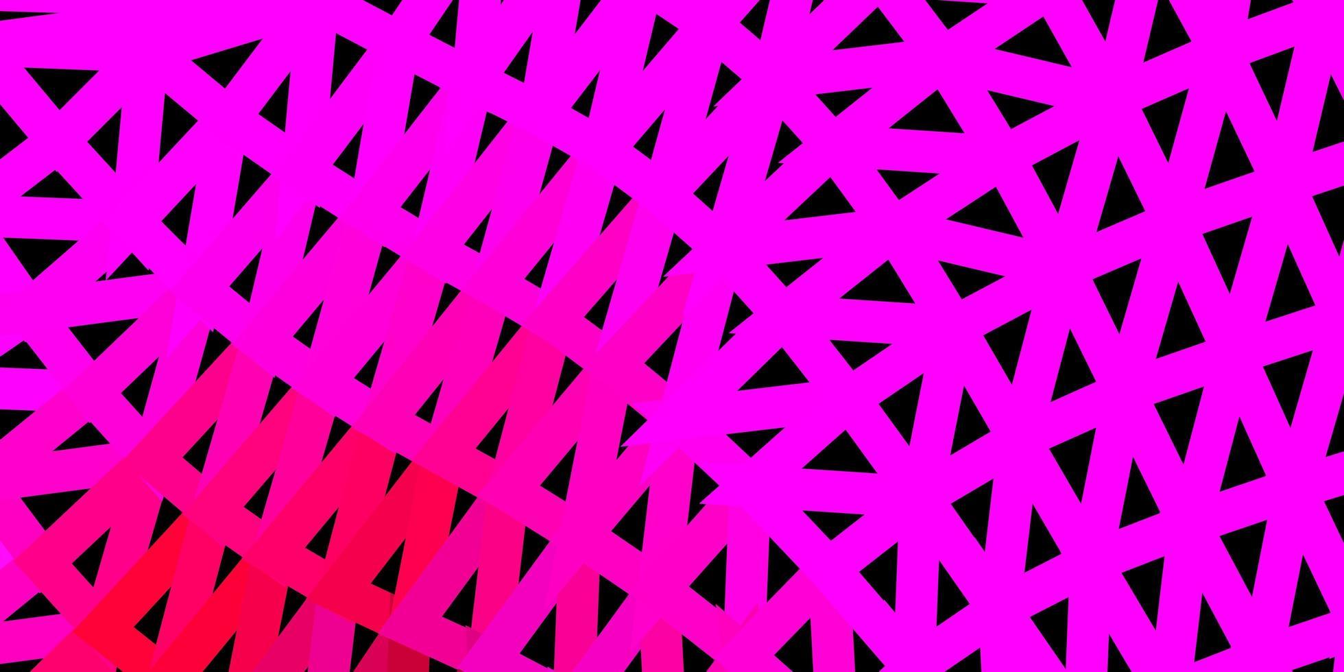 dunkler lila, rosa Vektor abstrakter Dreieck Hintergrund.