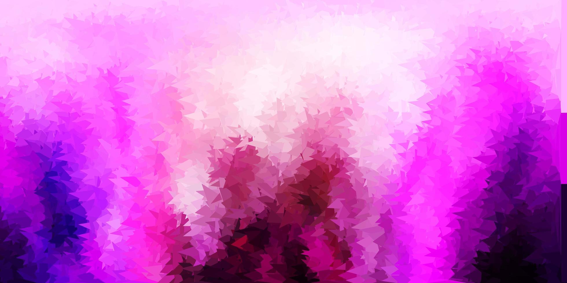 mörk lila, rosa vektor abstrakt triangel mönster.