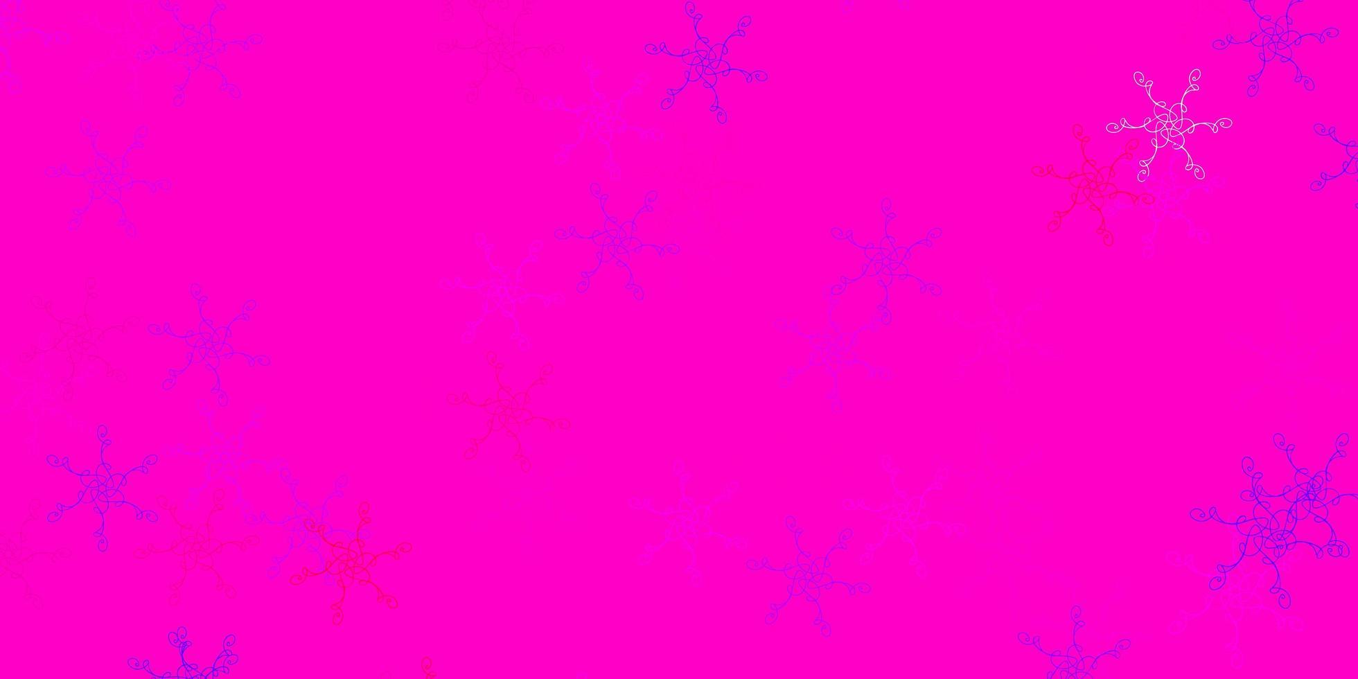 hellviolette, rosa Vektorschablone mit gekrümmten Linien. vektor