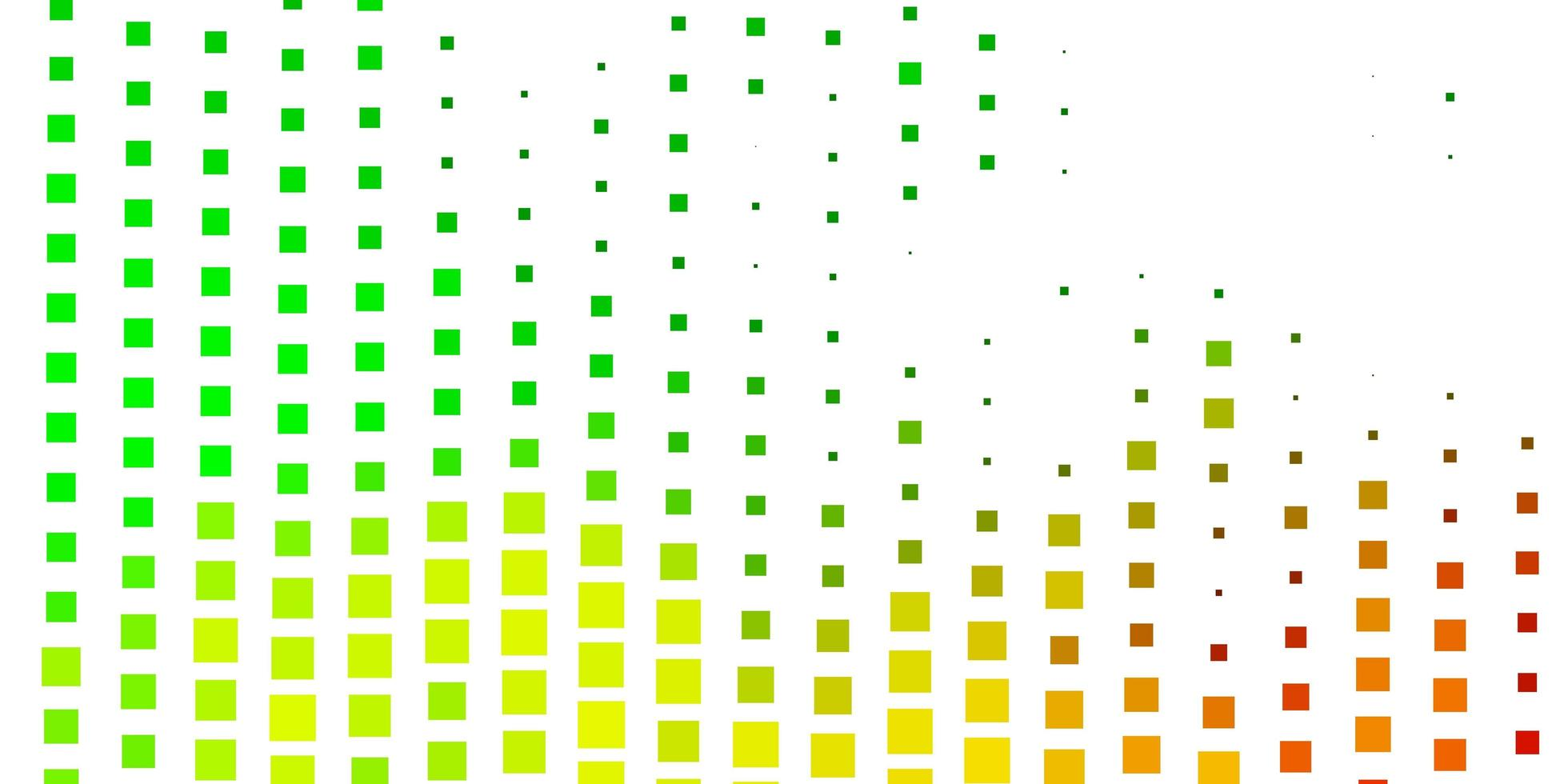 hellgrüner, gelber Vektorhintergrund mit Rechtecken. vektor