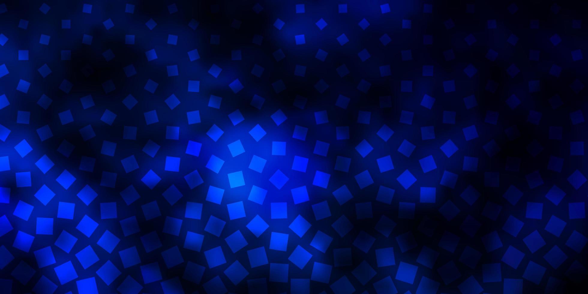 dunkelblauer Vektorhintergrund mit Rechtecken. vektor