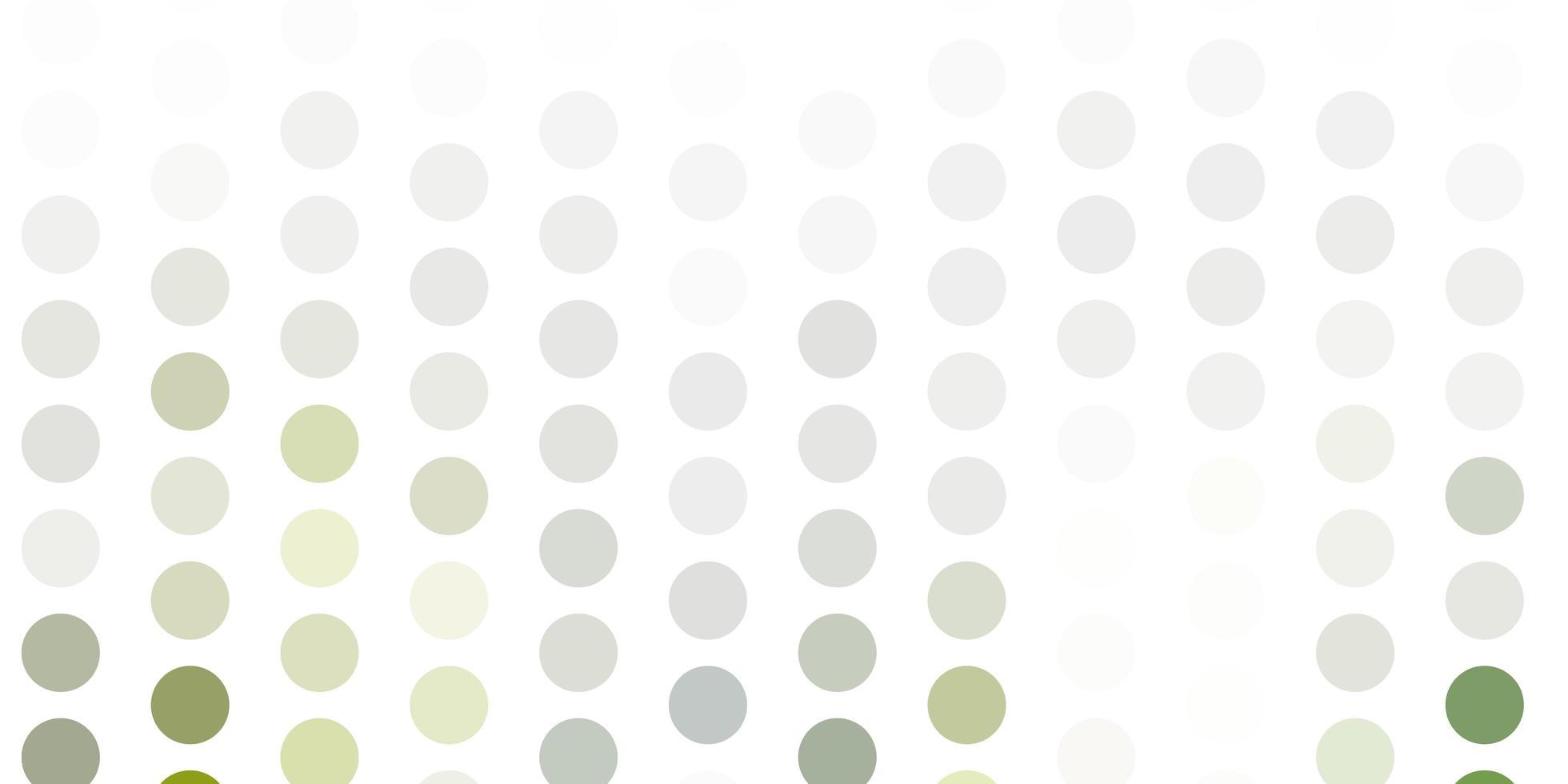 hellgraue Vektorschablone mit Kreisen. vektor
