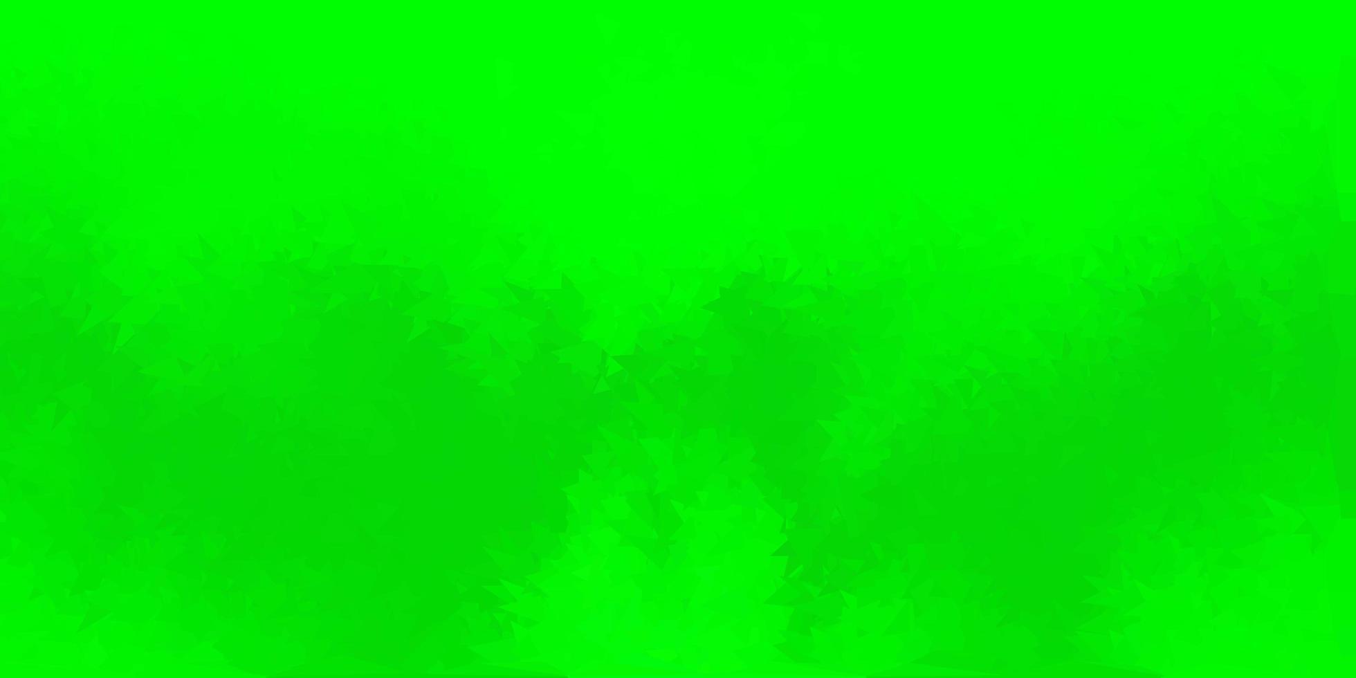 mörkgrön vektor abstrakt triangelmönster.
