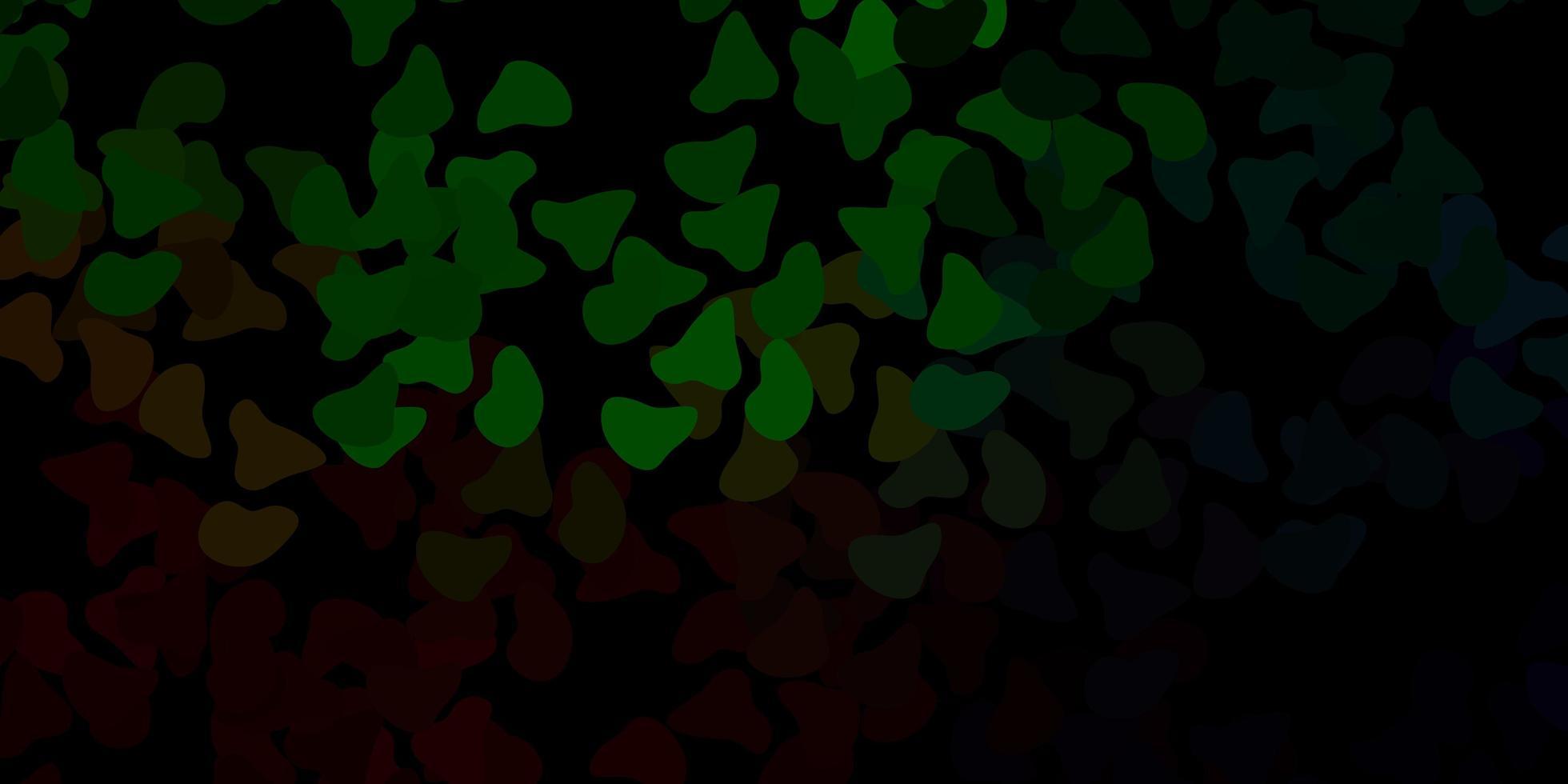 mörkgrön vektormall med abstrakta former. vektor