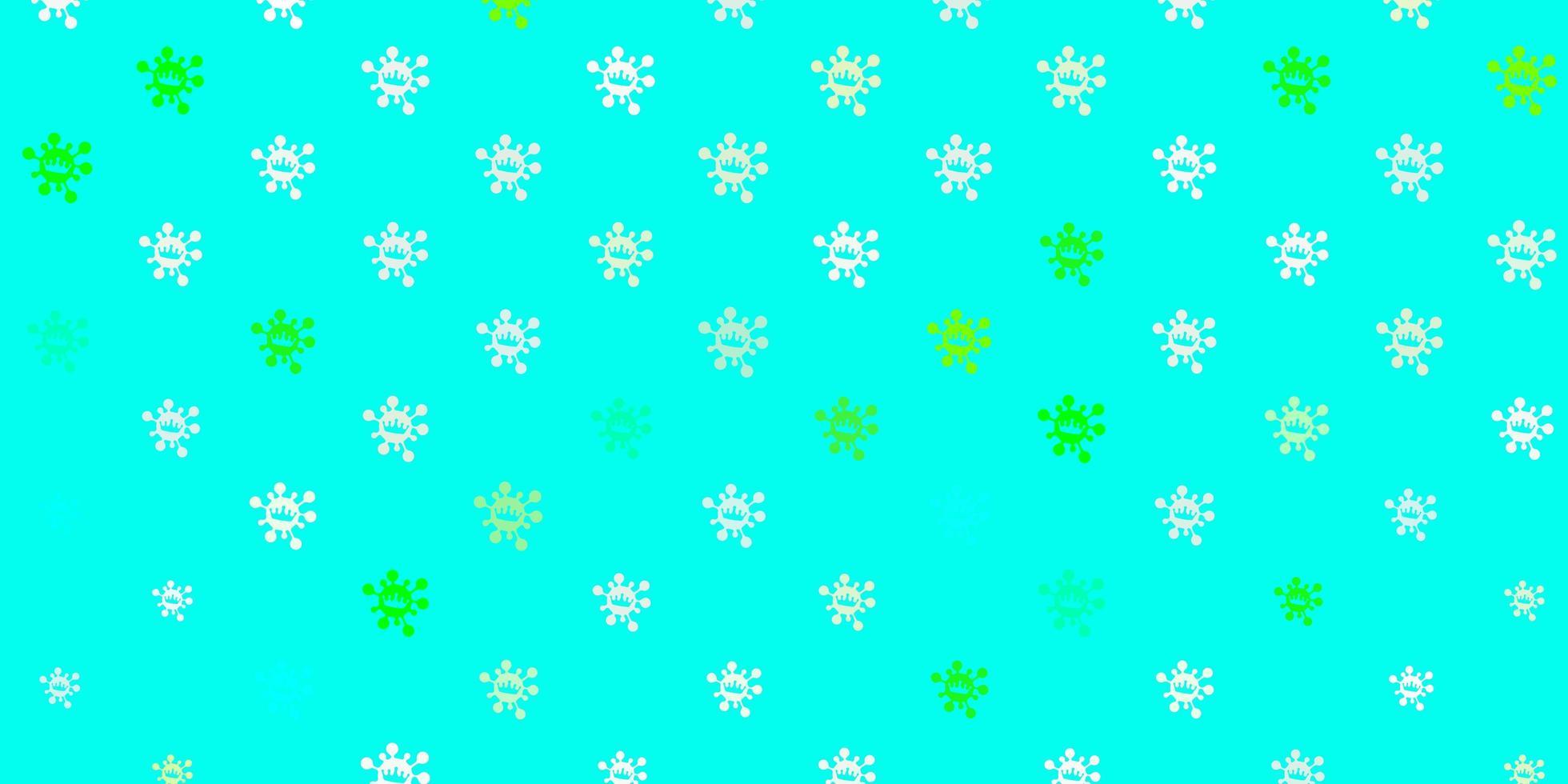 hellgrüne Vektorbeschaffenheit mit Krankheitssymbolen. vektor
