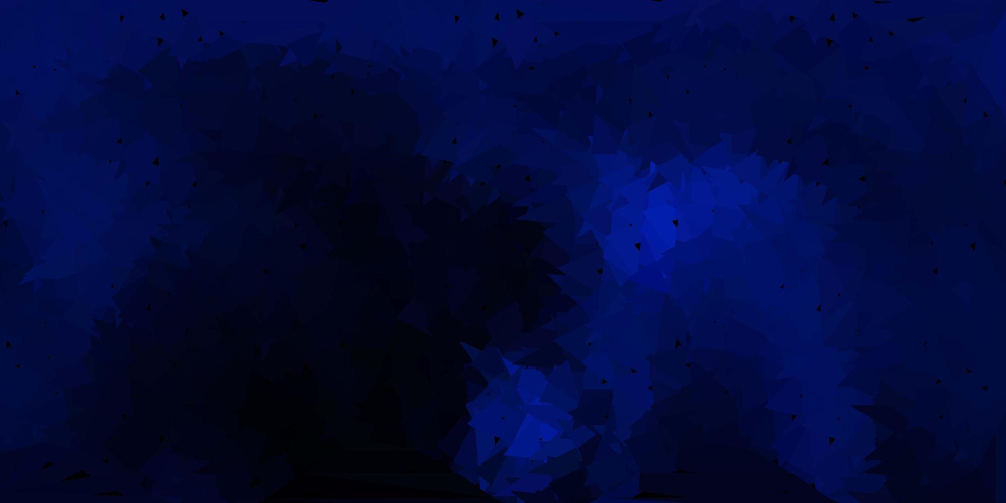 mörkblå vektor abstrakt triangelmall.