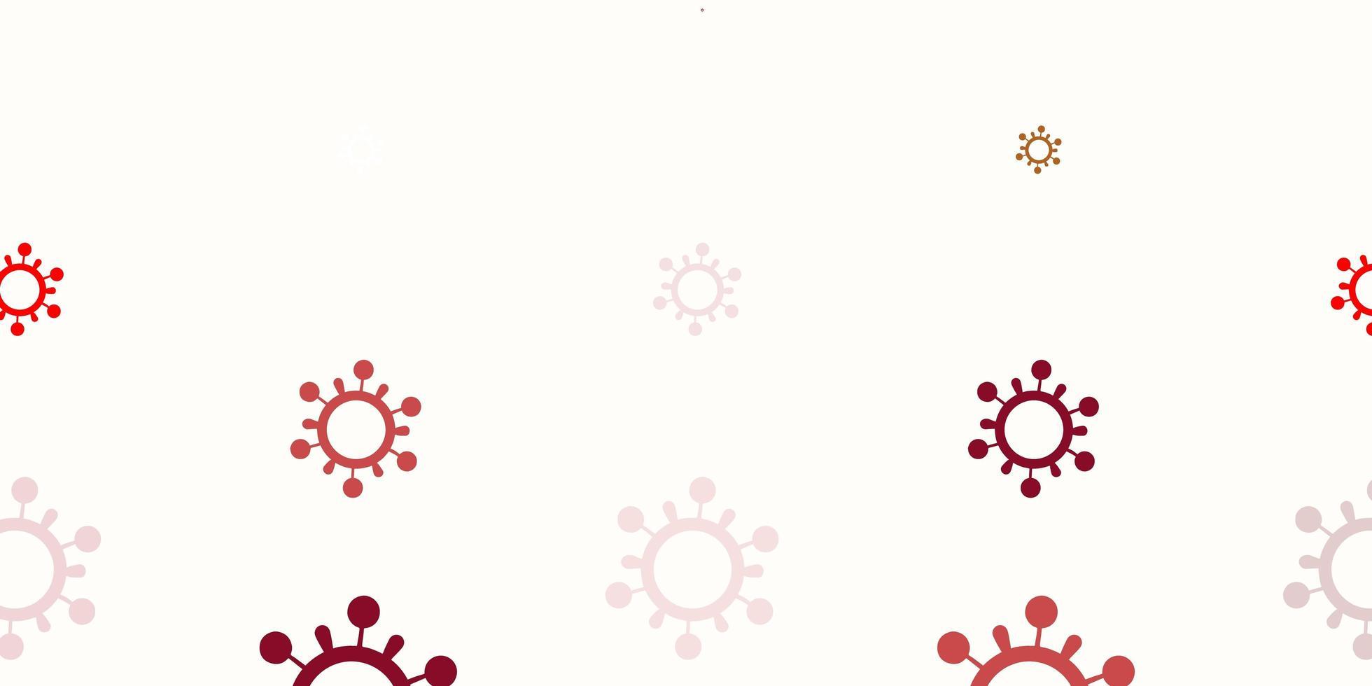 hellrote Vektorschablone mit Grippezeichen vektor