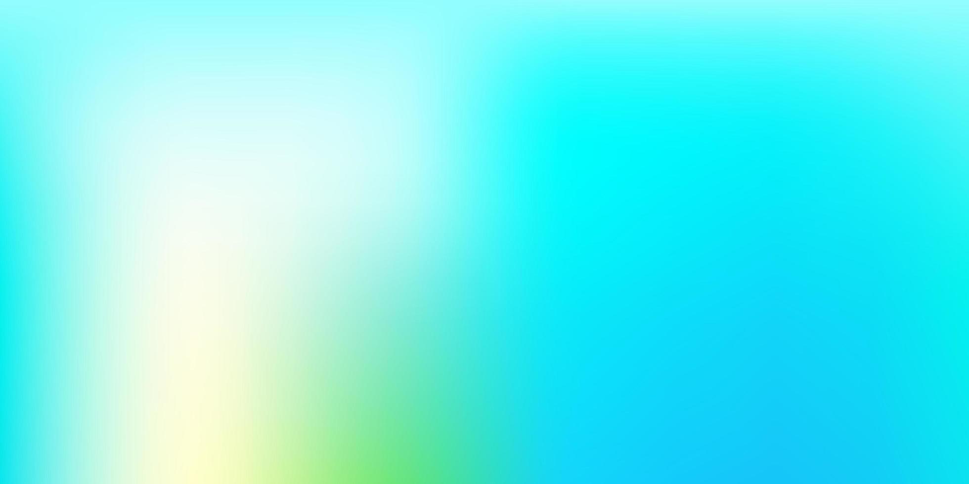 hellblaues, gelbes Vektorunschärfemuster. vektor