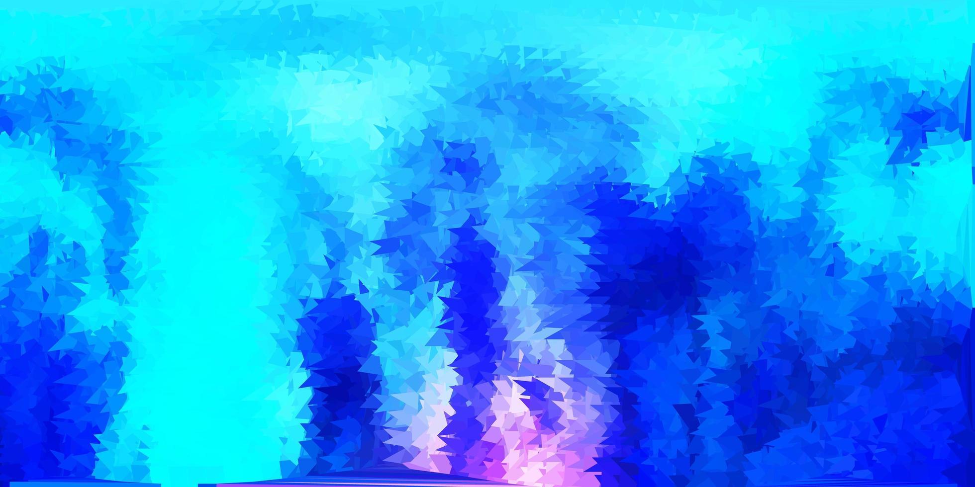 dunkelrosa, blaues Vektordreieck-Mosaikmuster. vektor