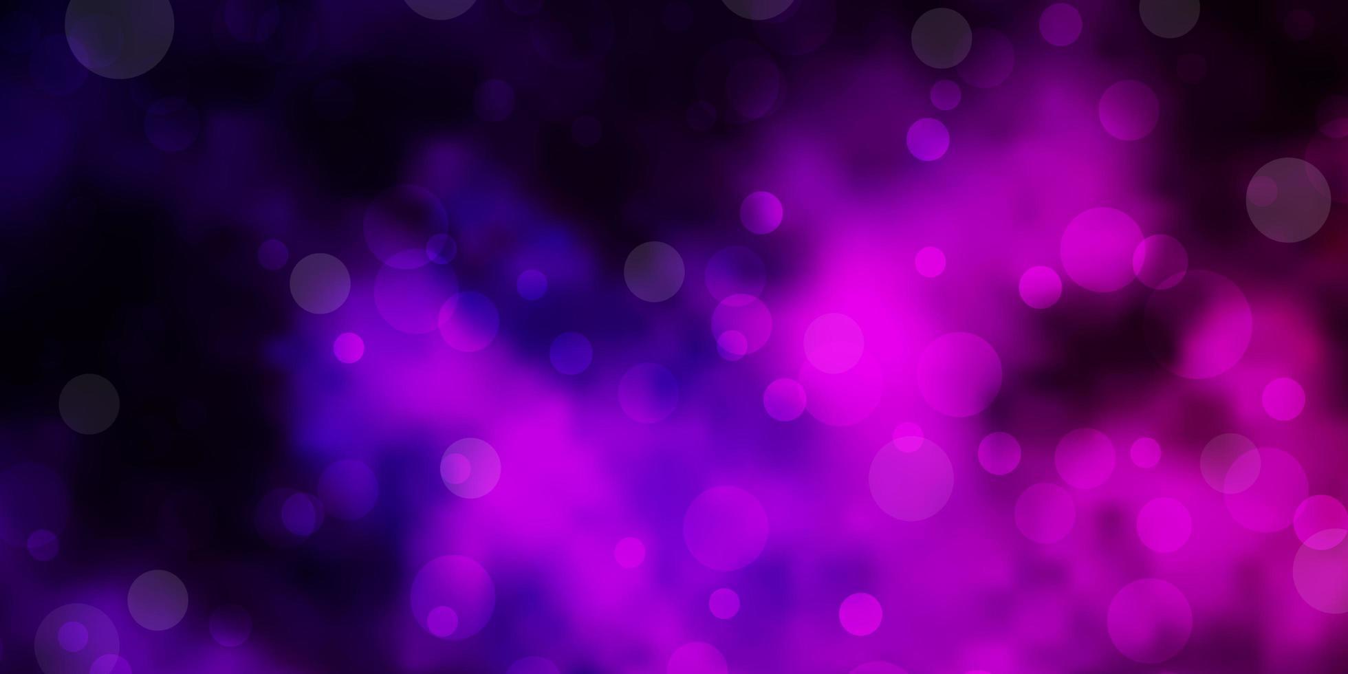 mörk lila vektor layout med cirkel former.