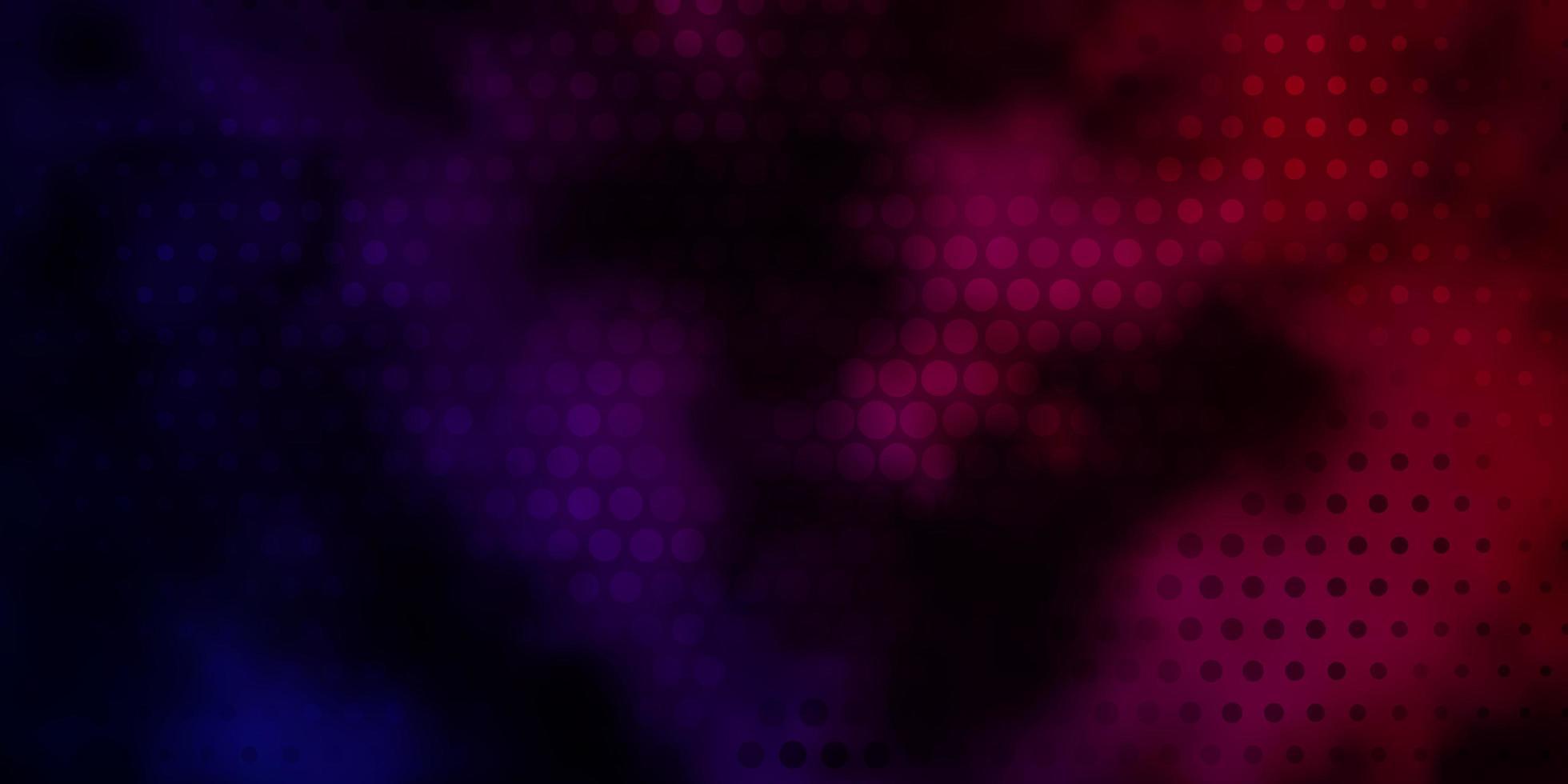 dunkelviolettes, rosa Vektormuster mit Kreisen. vektor