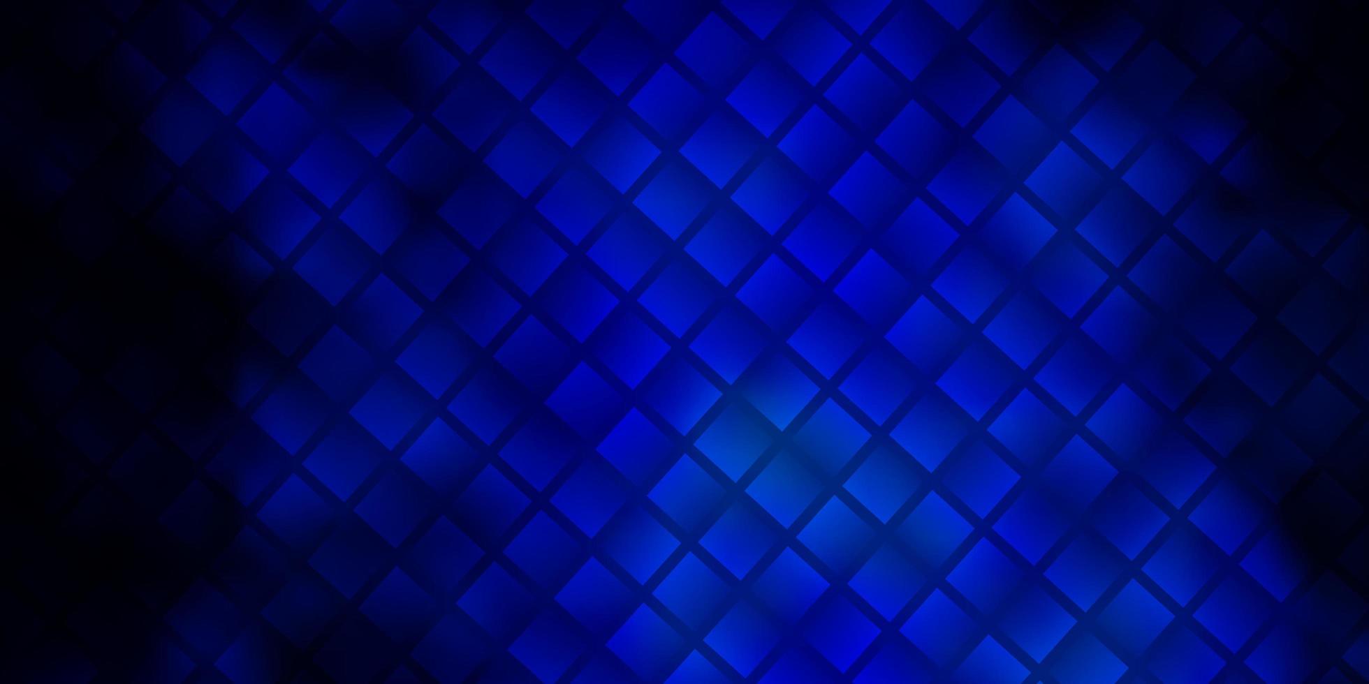 mörkblå vektorbakgrund med rektanglar. vektor