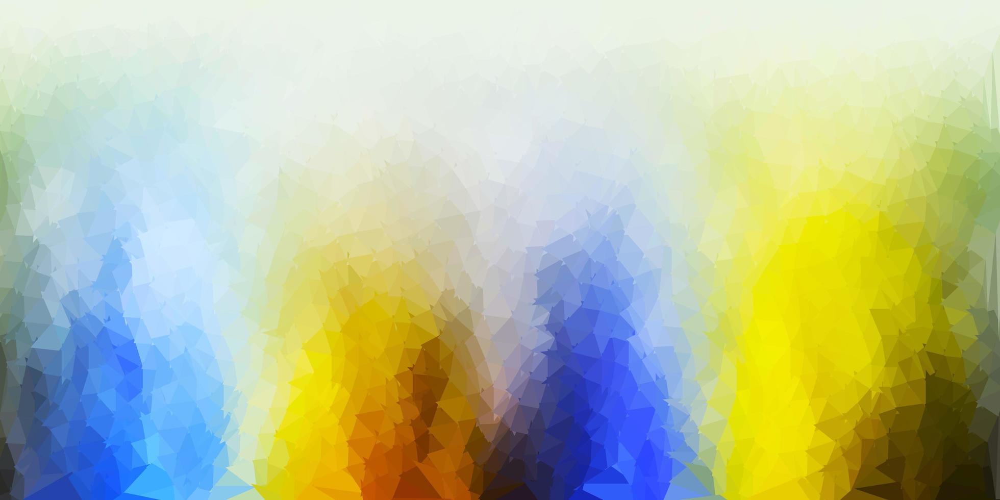 ljusblått, gult vektor månghörnigt mönster.