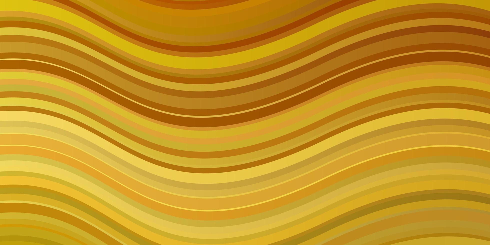 dunkelgelbes Vektormuster mit Kurven. vektor