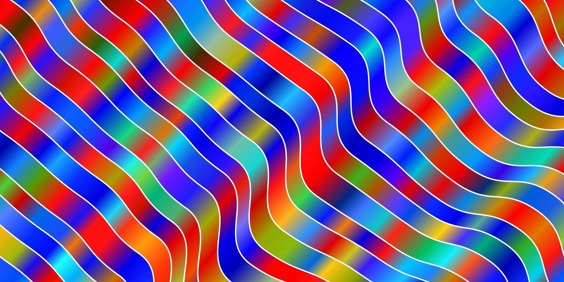 ljus flerfärgad vektormall med sneda linjer. vektor