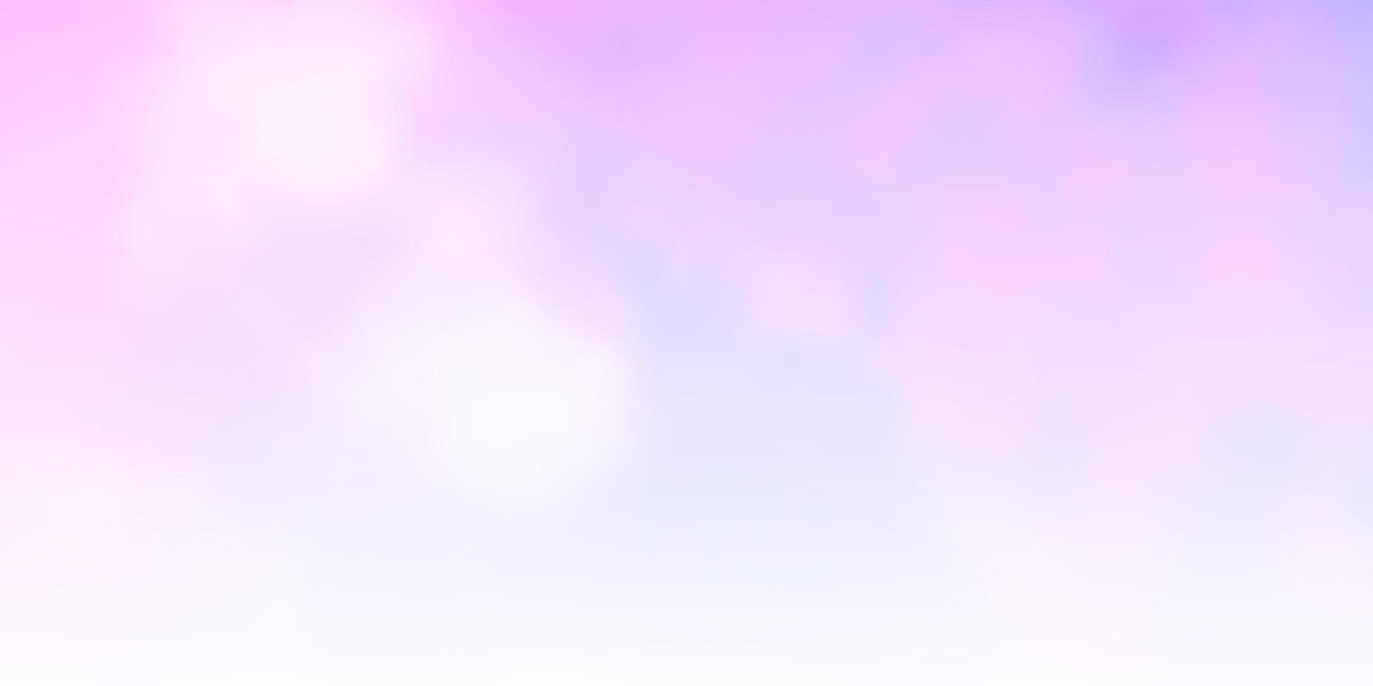 hellrosa, blaue Vektorschablone mit Himmel, Wolken. vektor