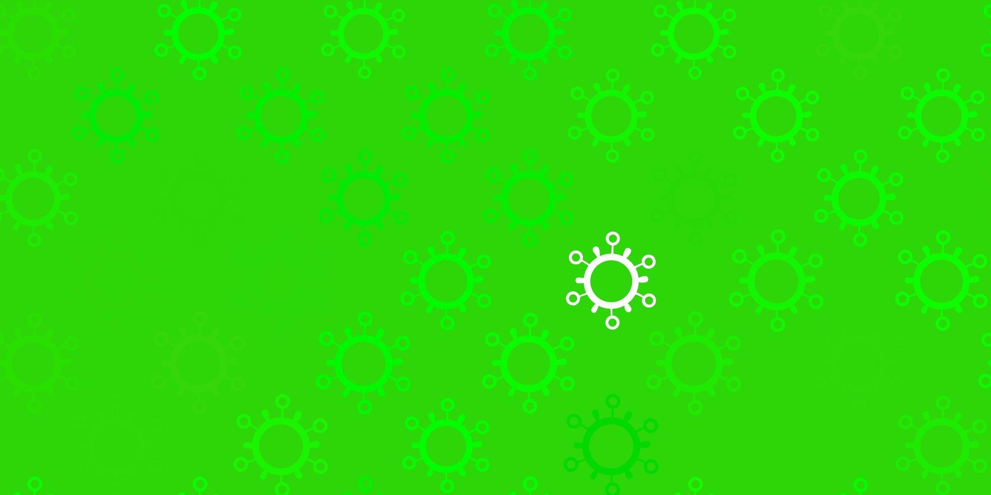 dunkelgrüne Vektorschablone mit Grippezeichen vektor