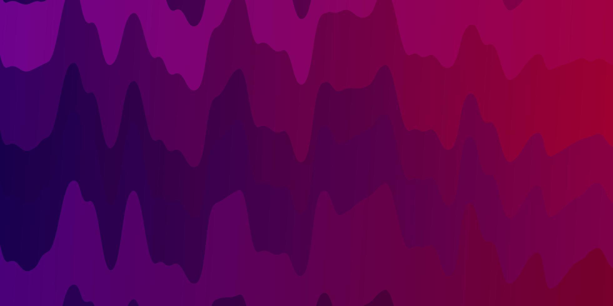 mörk lila, rosa vektor layout med kurvor.
