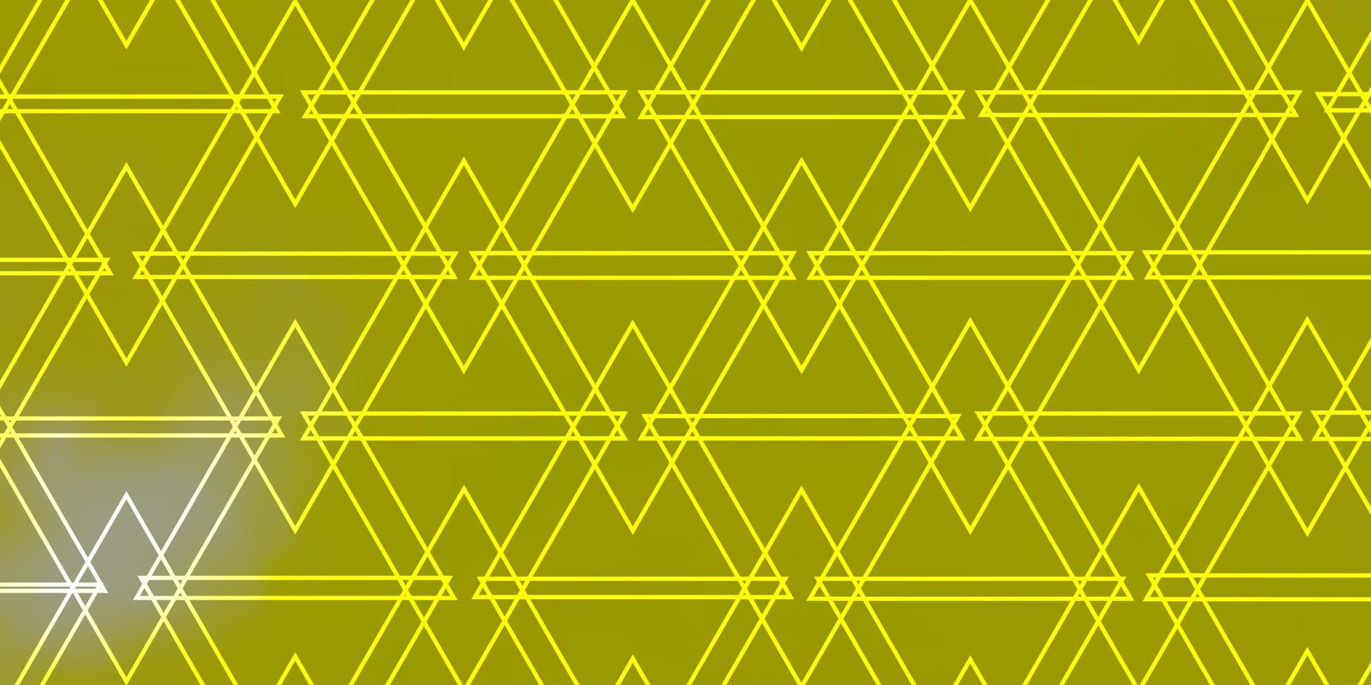 hellgelber Vektorhintergrund mit Dreiecken. vektor