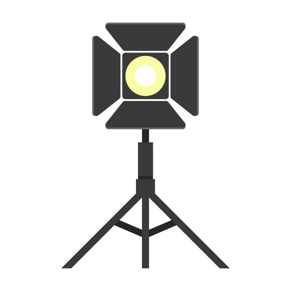 Scheinwerfervektorentwurfsillustration lokalisiert auf Hintergrund vektor