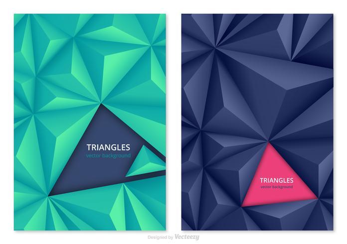 3D Abstrakta Trianglar Vector Bakgrunder