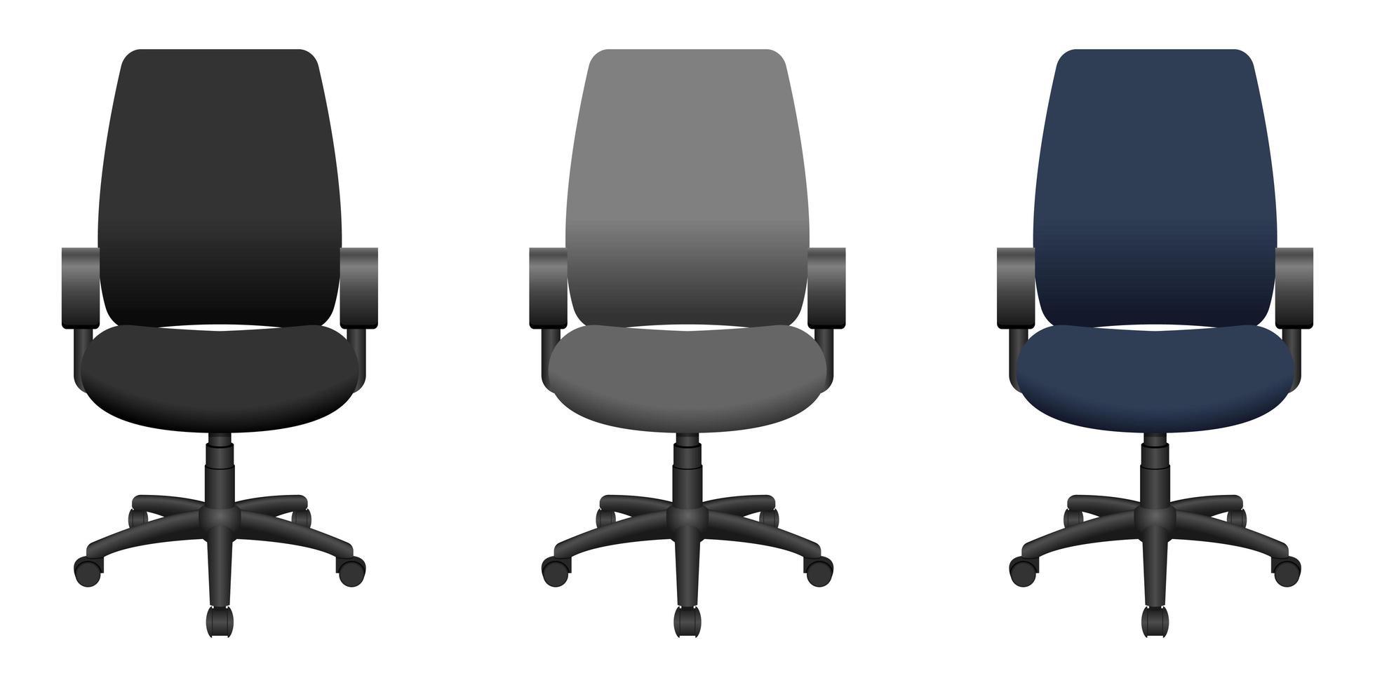 Bürostuhlvektorentwurfsillustration lokalisiert auf weißem Hintergrund vektor