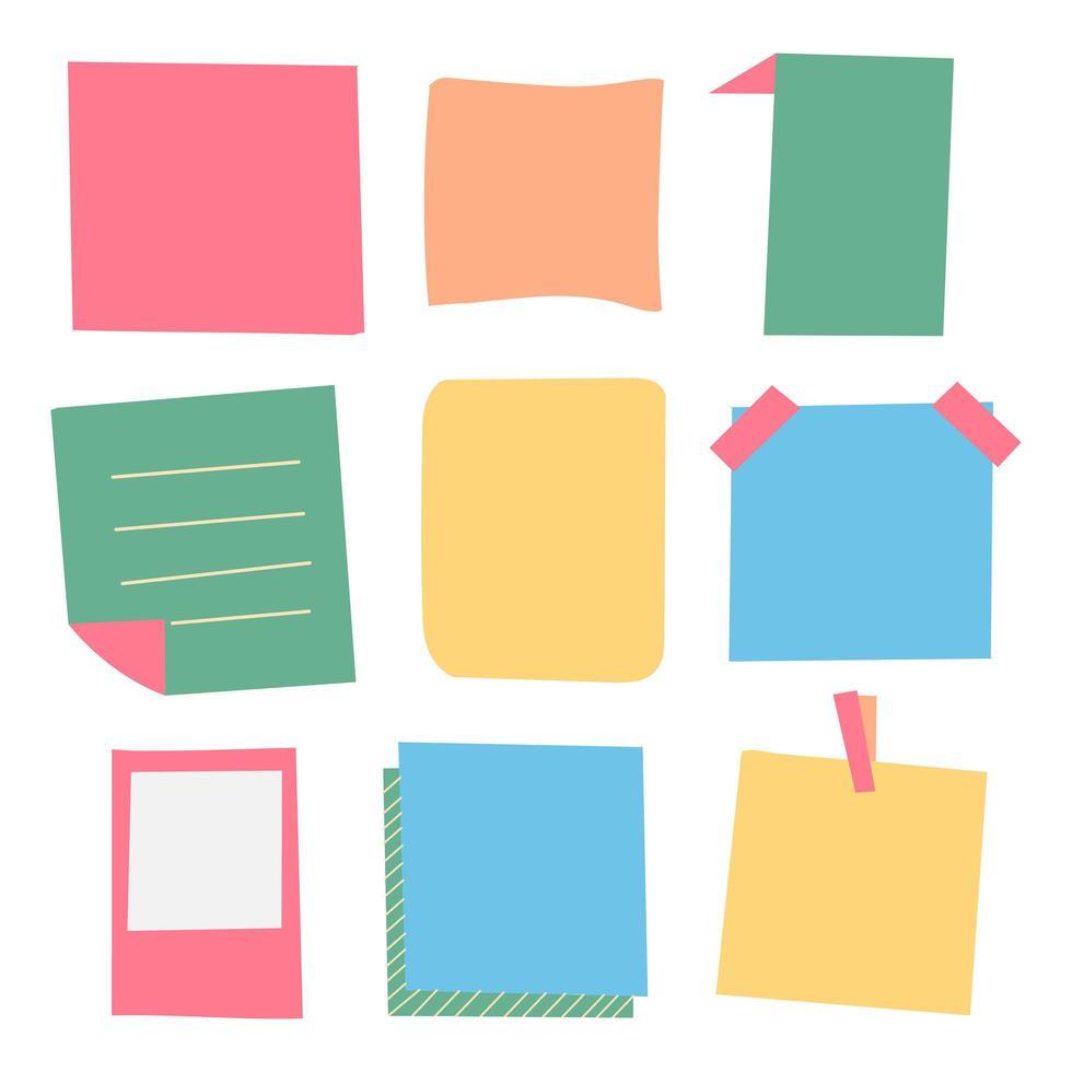 Satz Briefpapiere in sanften Farben vektor