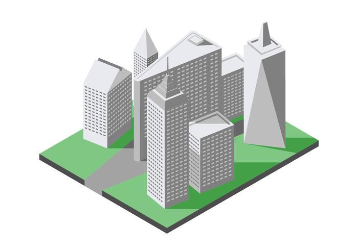 Isometrische New York City Wahrzeichen Illustration vektor