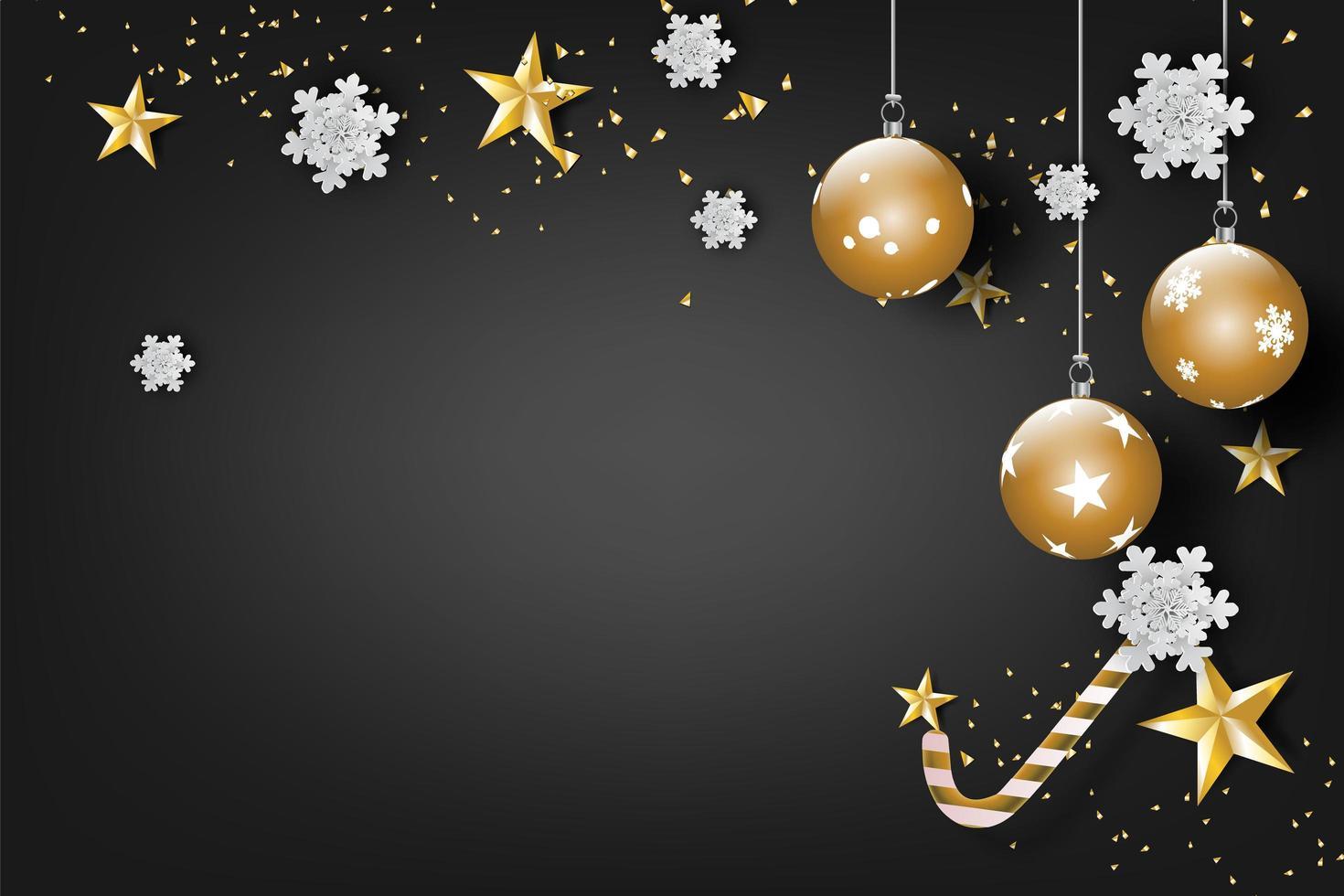 god jul och gott nytt år firande banner vektor