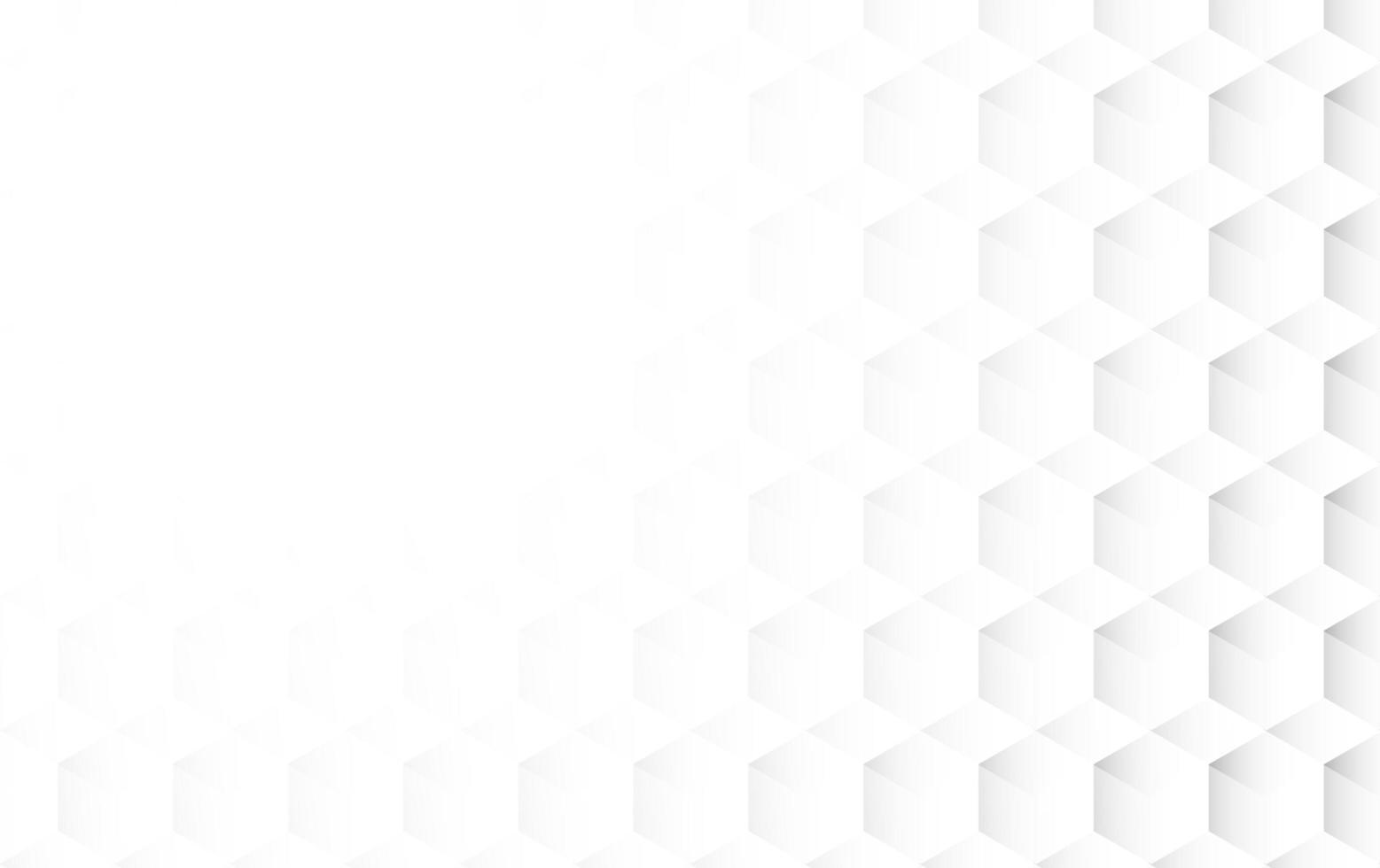 abstrakter weißer kubischer Hintergrund vektor
