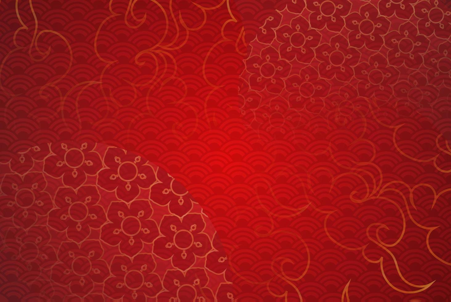 papper konst av kinesiska traditionella och asiatiska element mall bakgrund vektor