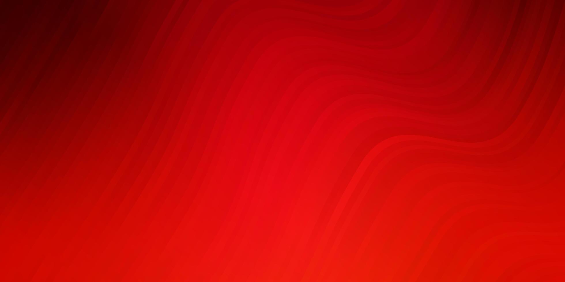 ljusröd vektorbakgrund med böjda linjer. vektor