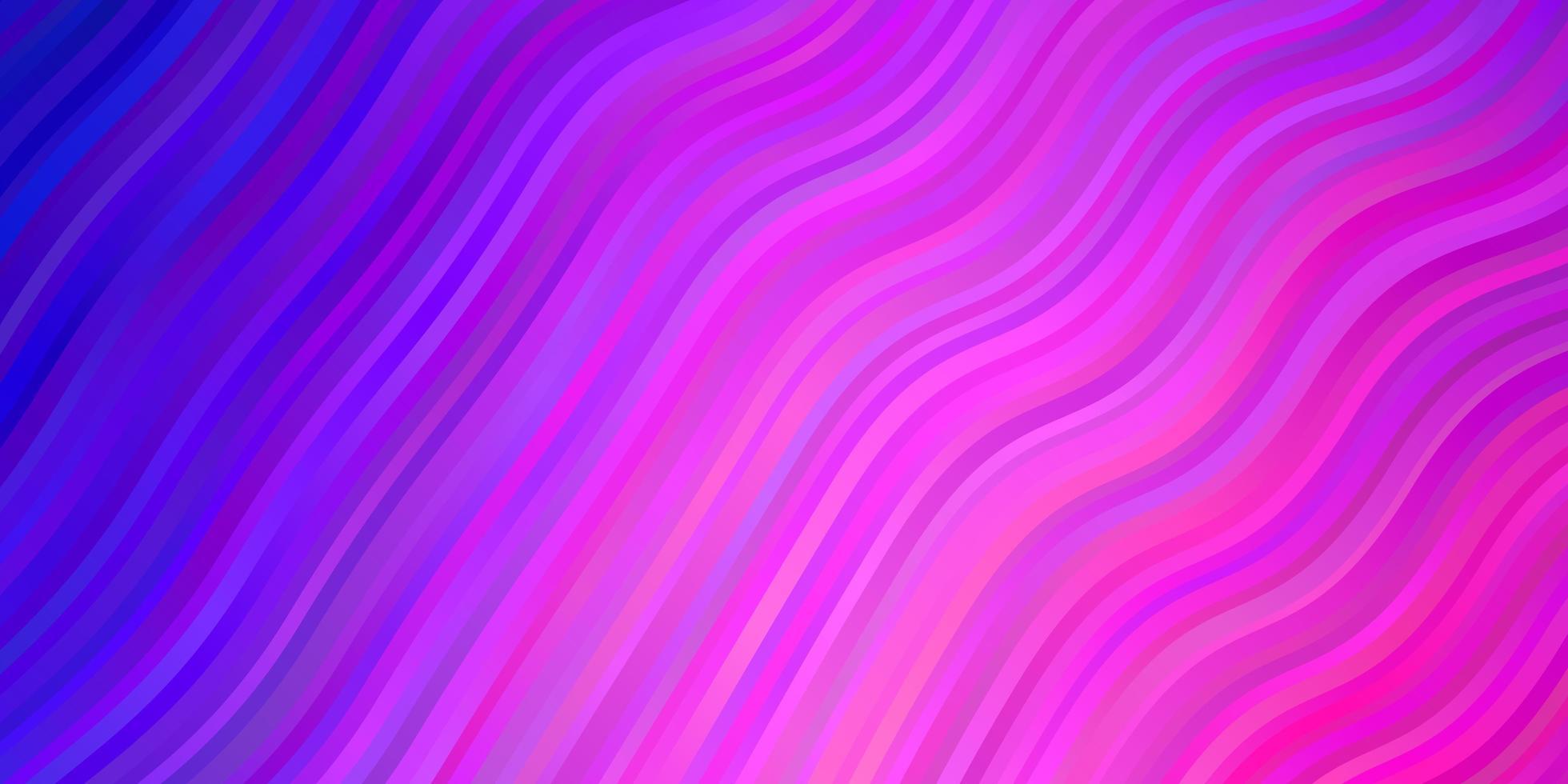 hellviolettes, rosa Vektorlayout mit Kreisbogen. vektor