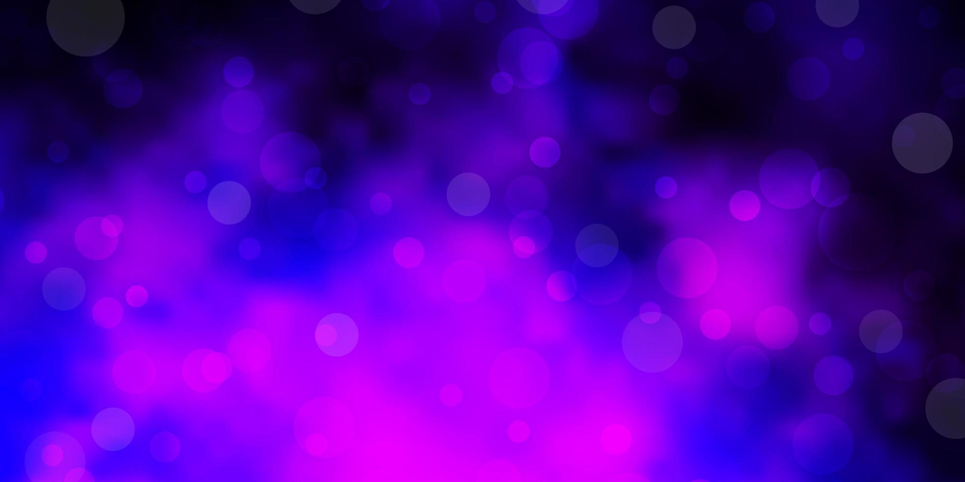 mörk lila vektormall med cirklar. vektor