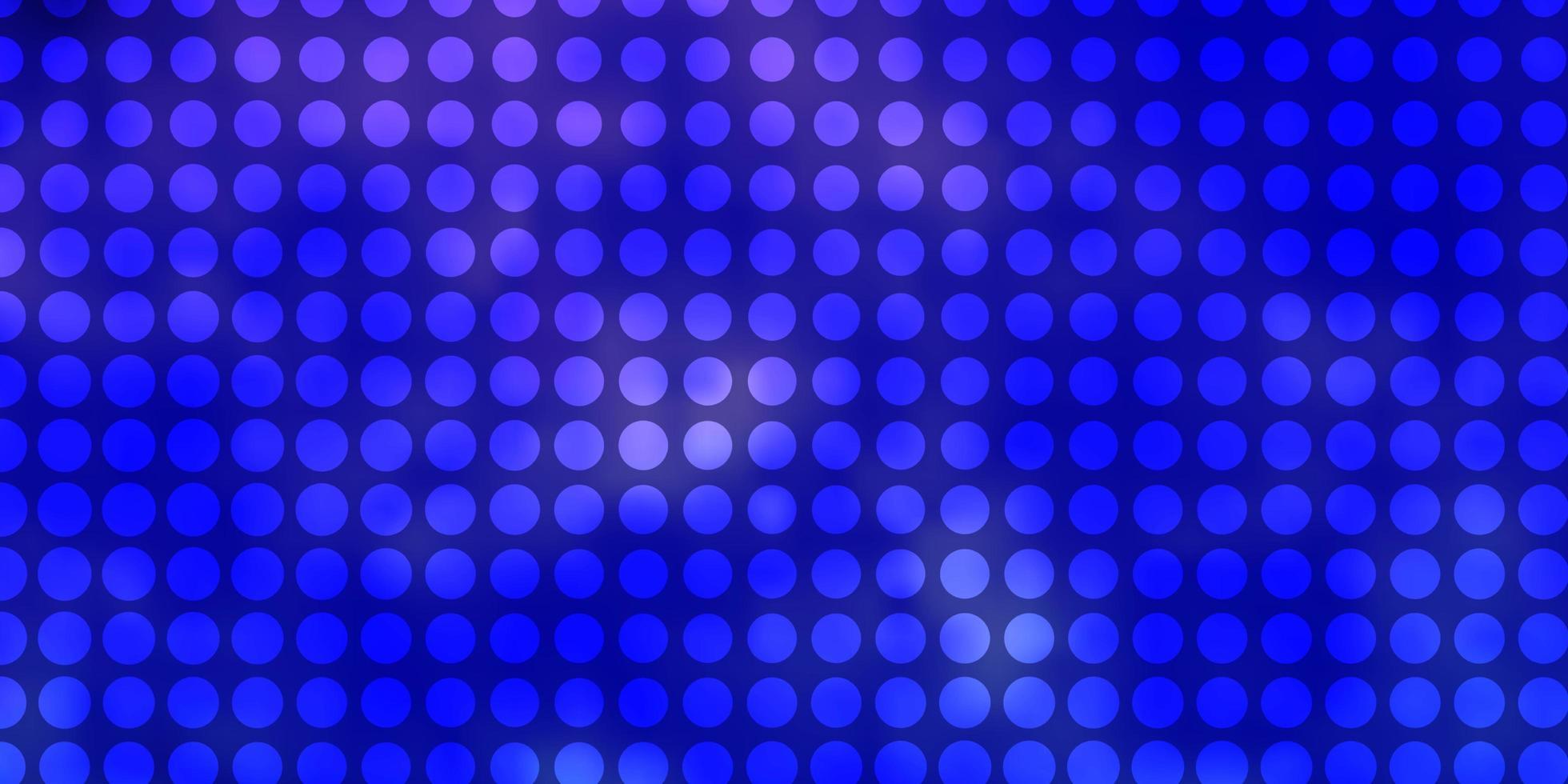 ljuslila vektor mönster med cirklar.