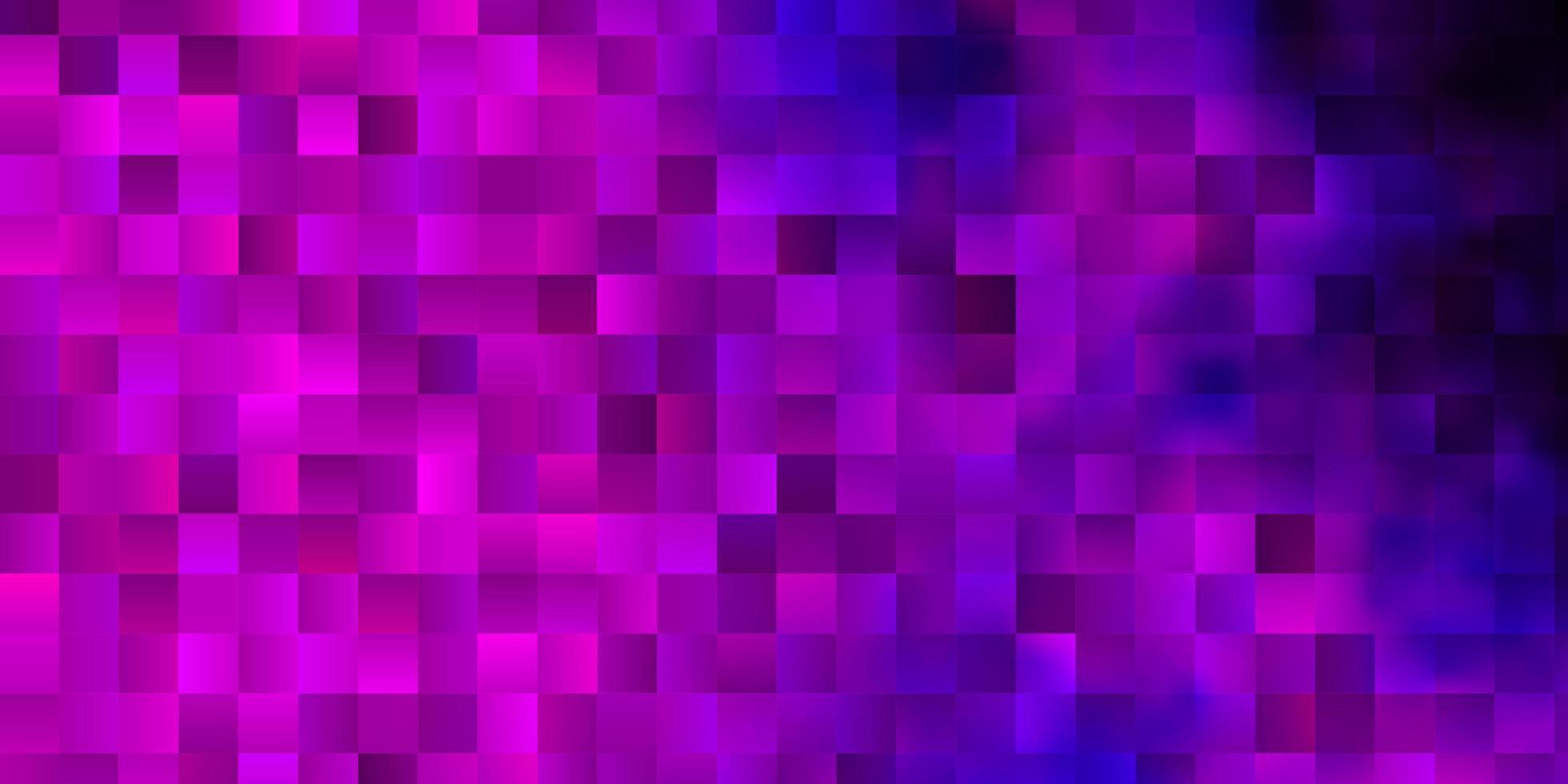 ljusrosa, blå vektormönster i fyrkantig stil. vektor