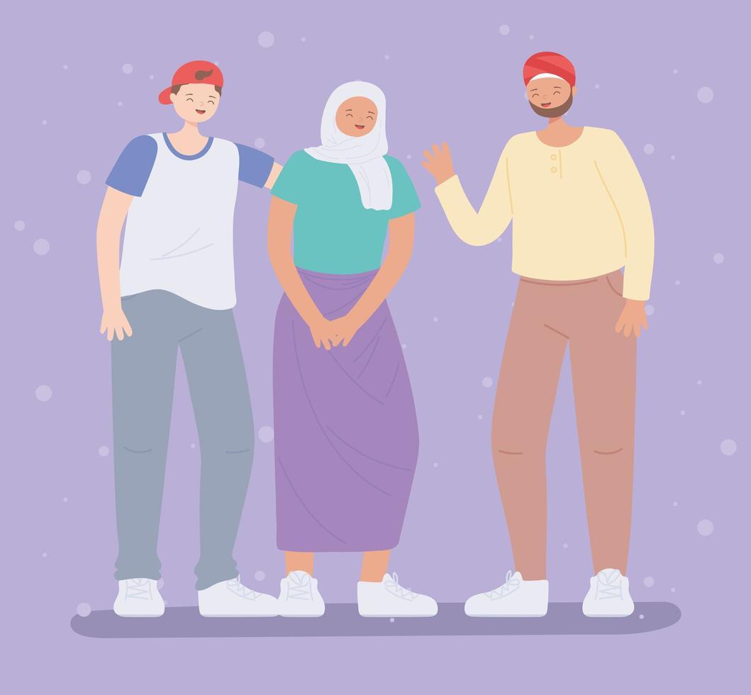 lgbtq gemenskap, grupp människor mångfald karaktärer, gay parad sexuell diskriminering protest vektor