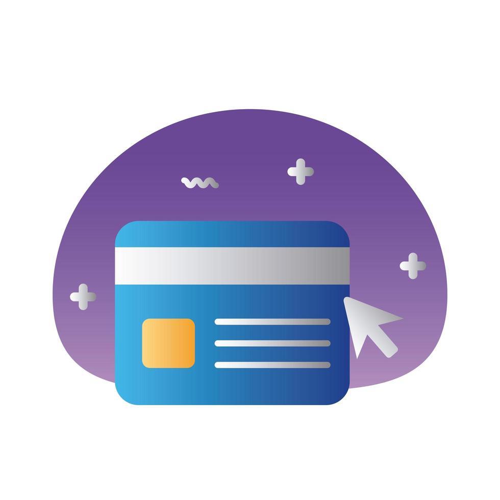 kreditkort plast pengar lutning stil ikon vektor