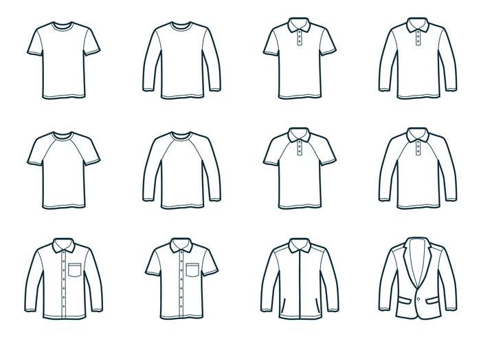 T-tröja för konturer vektor