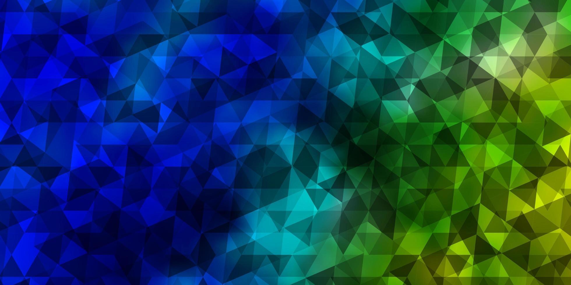 hellblaues, grünes Vektormuster mit polygonalem Stil. vektor