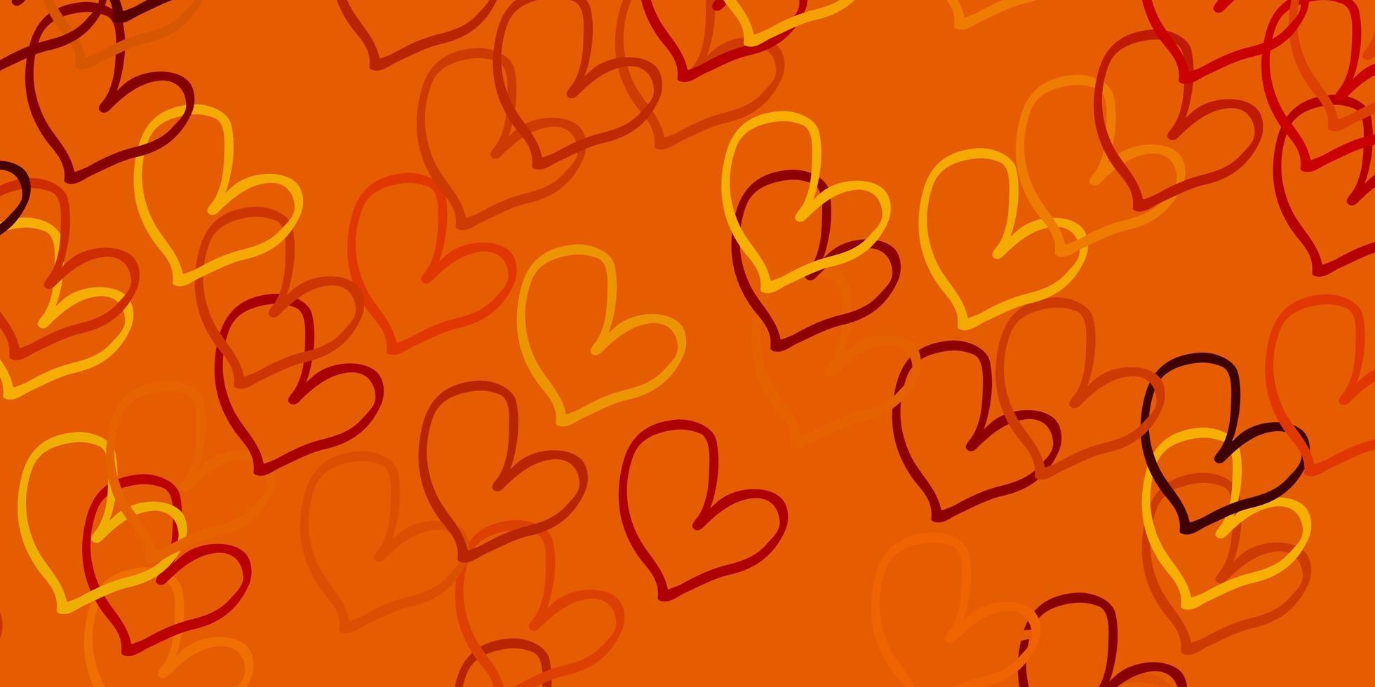 hellbraune Vektorbeschaffenheit mit schönen Herzen. vektor