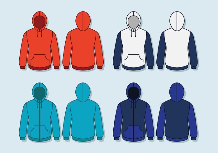 Blank hooded tröja mall vektor