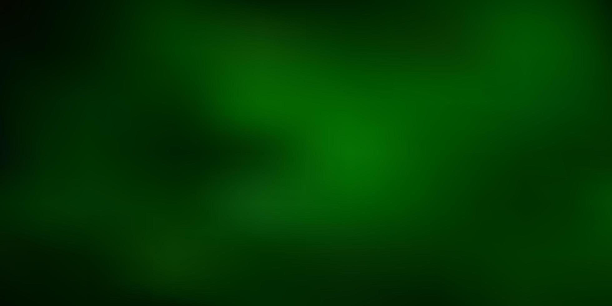 mörkgrön vektor abstrakt oskärpa ritning.