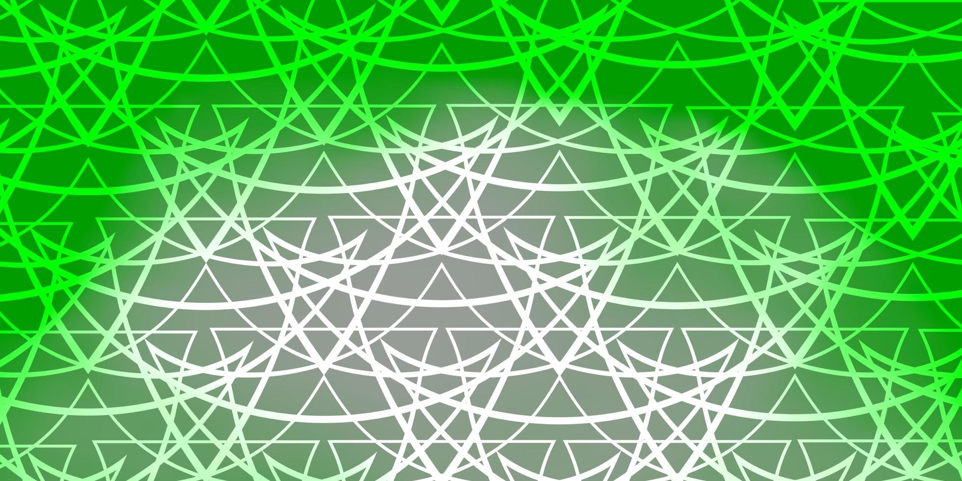ljusgrön vektorbakgrund med linjer, trianglar. vektor