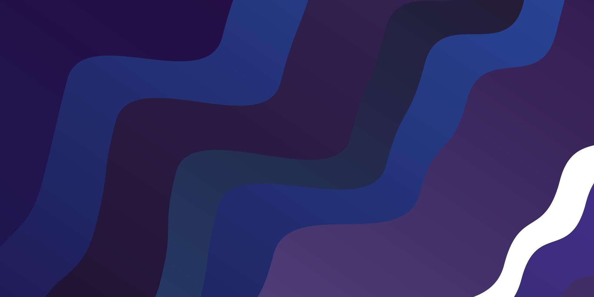 mörk lila vektormall med kurvor. vektor